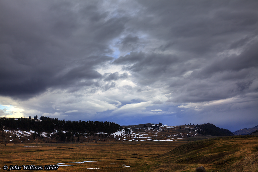 Storm in Little America taken Spring 2019 from Coyote Pullout in Lamar Valley in Yellowstone © Copyright All Rights Reserved John William Uhler