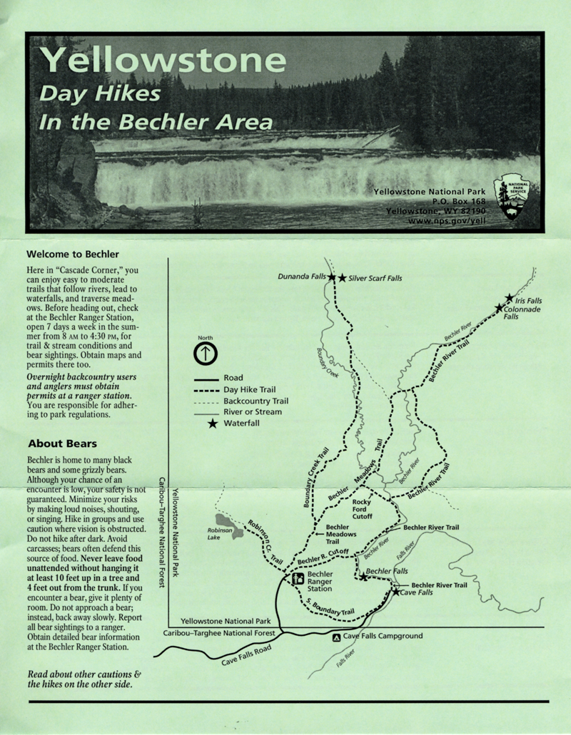 Bechler Day Hikes by John William Uhler © Copyright Page Makers, LLC and Yellowstone Media