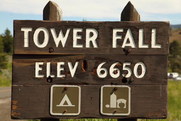 Tower Fall Campground by John William Uhler © Copyright