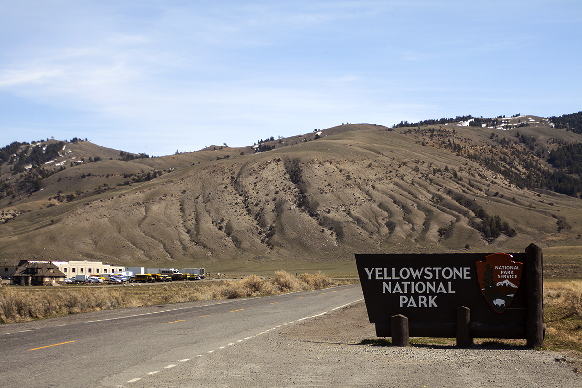 North Entrance to Yellowstone National Park by John William Uhler © Copyright All Rights Reserved