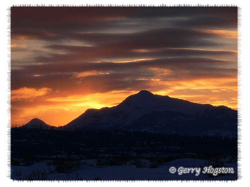 Yellowstone Sunset ~ © Copyright All Rights Reserved Gerry Hogston