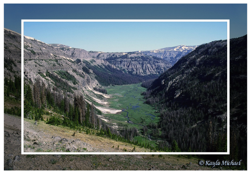 South Fork of the Yellowstone River as viewed from the Continental Divide by Kayla Michael © Copyright All Rights Reserved