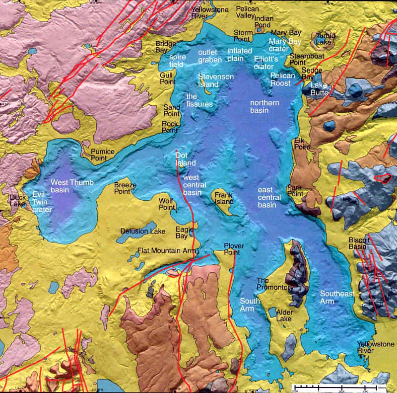 Yellowstone Lake Geologic Map by USGS