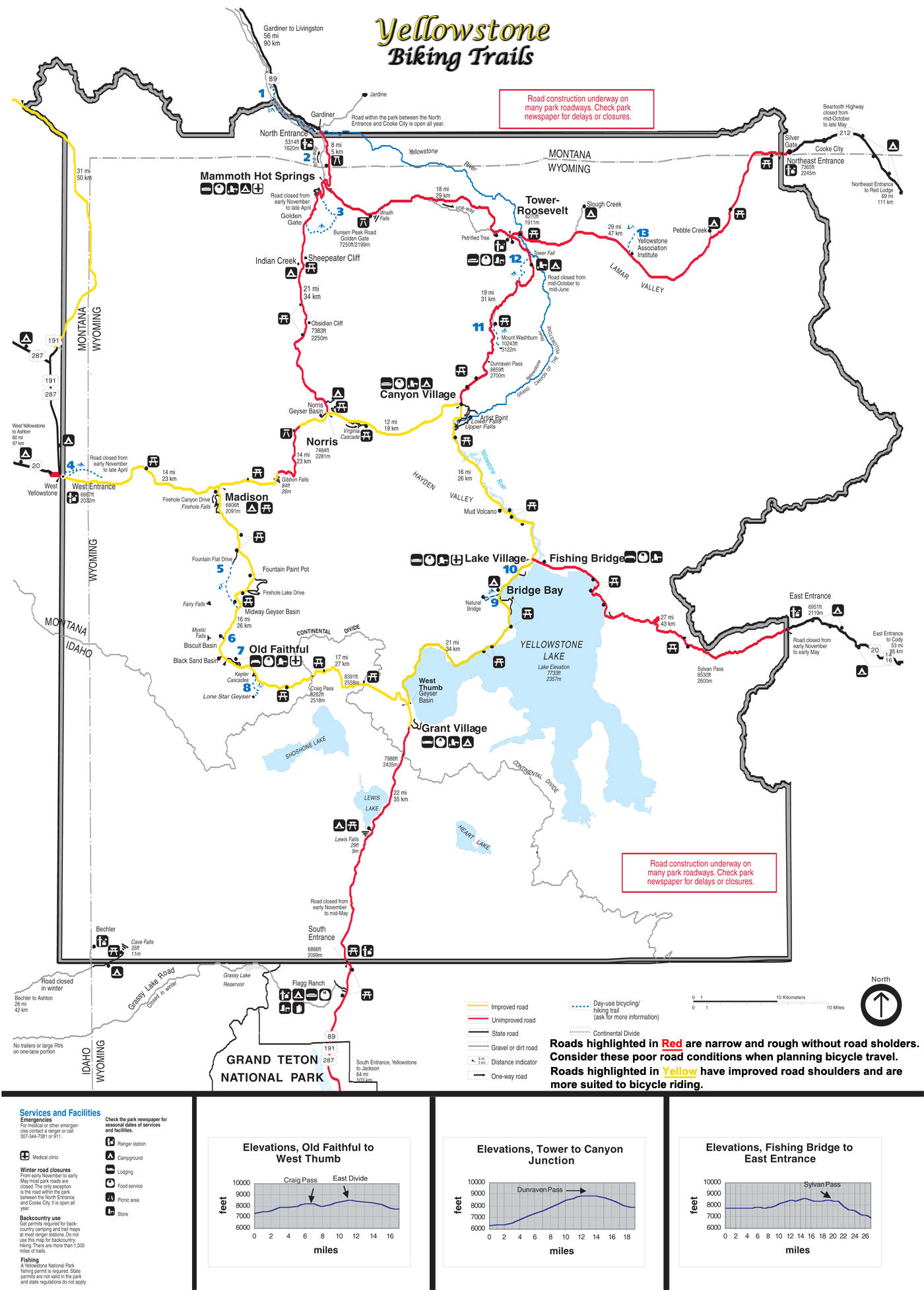 Yellowstone National Park Biking ~ Yellowstone Up Close and ... on map of glacier national park, map of white house entrances, map to yellowstone east tower, map showing yellowstone national park, map rocky mountains tn, map of west philadelphia, map of grand canyon entrances, map oregon to yosemite,