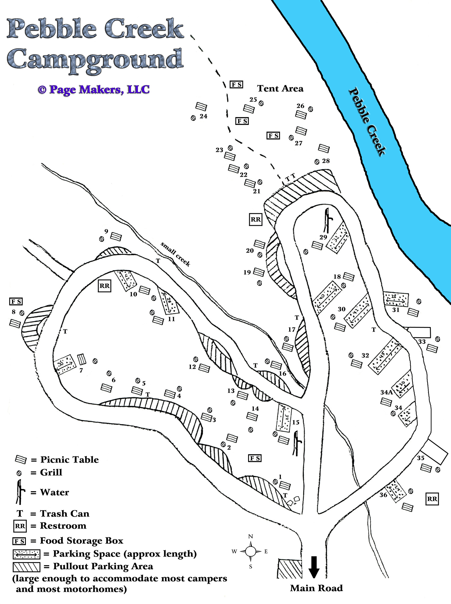 Pebble Creek Campground Map, Pictures and Video Yellowstone National on bear lodge map, slough creek yellowstone map, thorofare wilderness map,