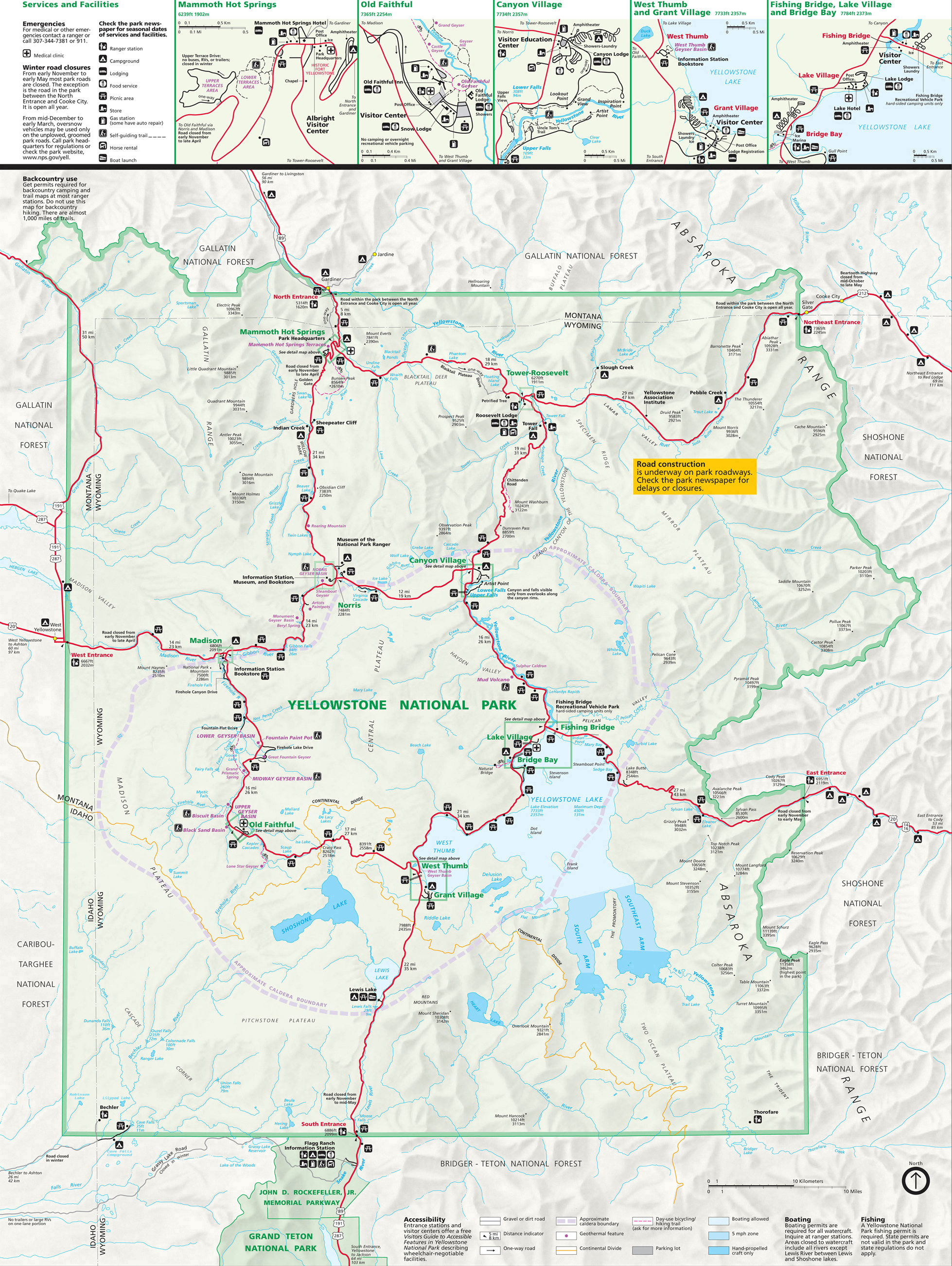 Yellowstone National Park Map Pdf Yellowstone National Park Map ~ Yellowstone Up Close and Personal Yellowstone National Park Map Pdf