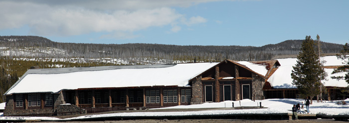 Old Faithful Lodge by John William Uhler Copyright © All Rights Reserved