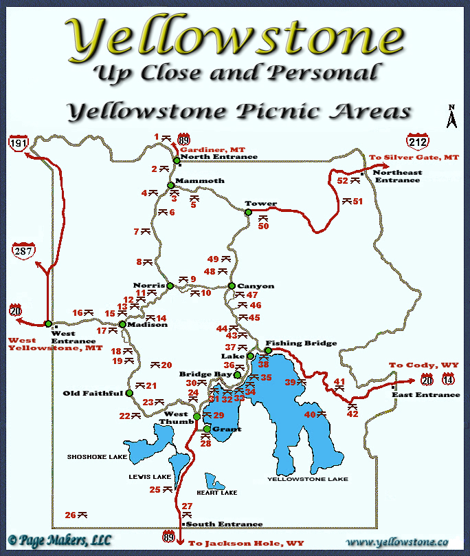 Yellowstone National Park Picnic Areas