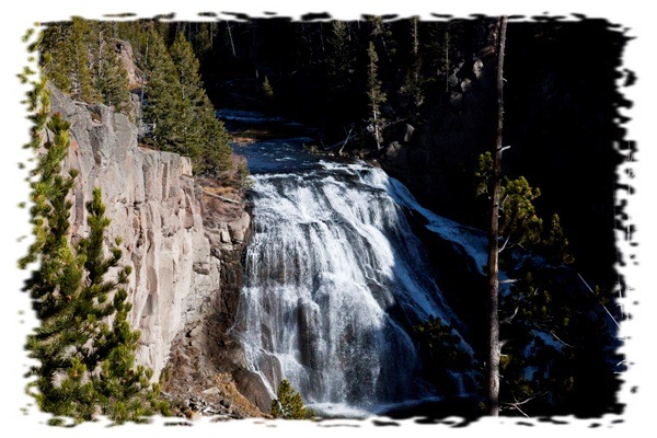Gibbon Falls by John William Uhler © Copyright All Rights Reserved