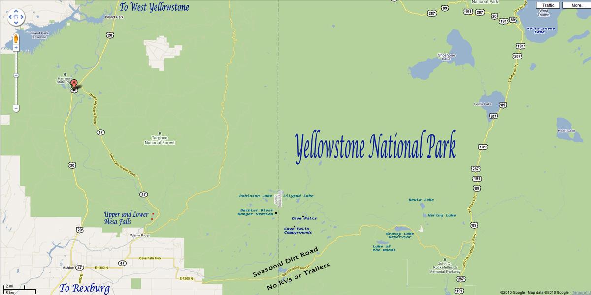 mesa falls idaho map Mesa Falls Information Pictures And Videos Yellowstone Up Close And Personal mesa falls idaho map