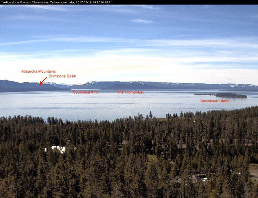 Yellowstone Volcano Observatory Mobile WebCam overlooking Yellowstone Lake